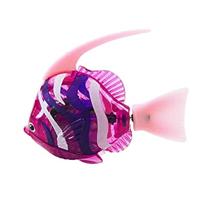 URBEAR Swimming Robot Fish Activated Battery Powered Robot Fish Toy Fish Robottic Pet Fish Aquarium Decor Bathtub Toy for Children Kids Toddle: Toys & Games
