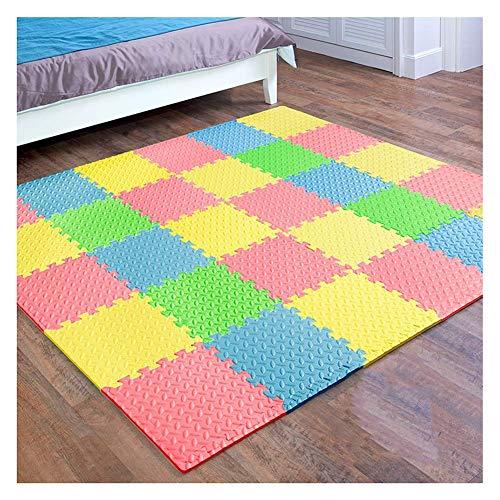 ZHAS Foam Puzzle Interlocked Carpet Tiles Toddler Nursery Playroom Crawling Protect Non-Slip Flooring, 8 Colors, 1.2cm…