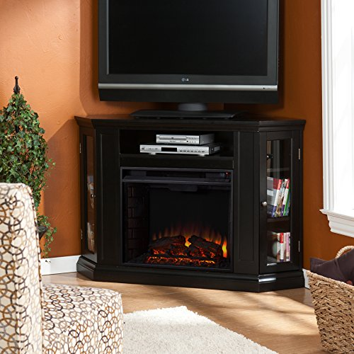 Claremont Convertible Media Electric Fireplace - Black/Ebony