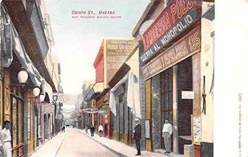 - Obispo Street Havana Cuba, Republica de Cuba Postcard