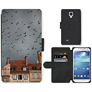 GoGoMobile Flip PU Leather Wallet Case with Credit Card Slots // M00118989 Warsaw Birds Mulet Weather Himmel // Samsung Galaxy S4 S IV SIV i9500