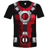 Marvel Men's Costume Deadpool T-Shirt, Multicolour (Sublimation Sublimation), M