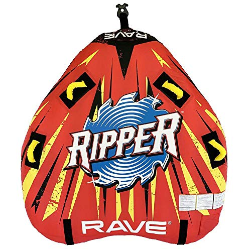 RAVE Sports 02918-RV-SMU Ripper 2 Rider Nylon Inflatable Towable Float, Red