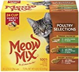 Meow Mix Poultry Selections Variety Pack of, 24-Count, My Pet Supplies