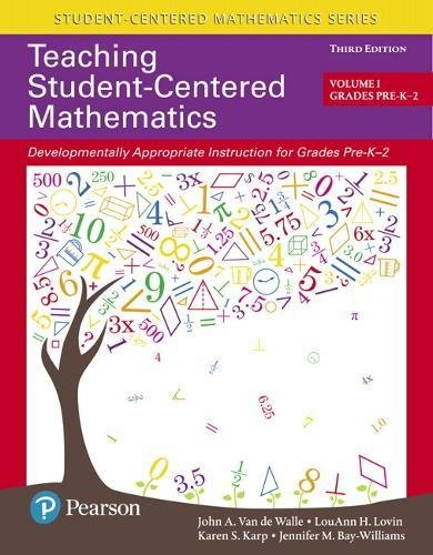 Books : Teaching Student-Centered Mathematics: Developmentally Appropriate Instruction for Grades Pre-K-2 (Volume I) (3rd Edition)