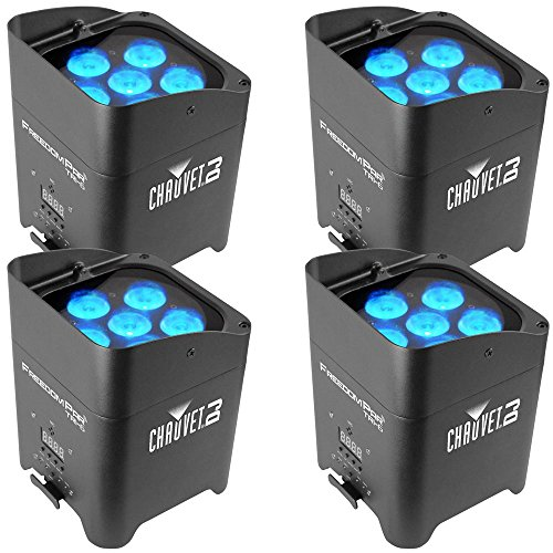- Chauvet Freedom Par Tri-6 RGB Battery-Powered Wireless Wash 4-Pack