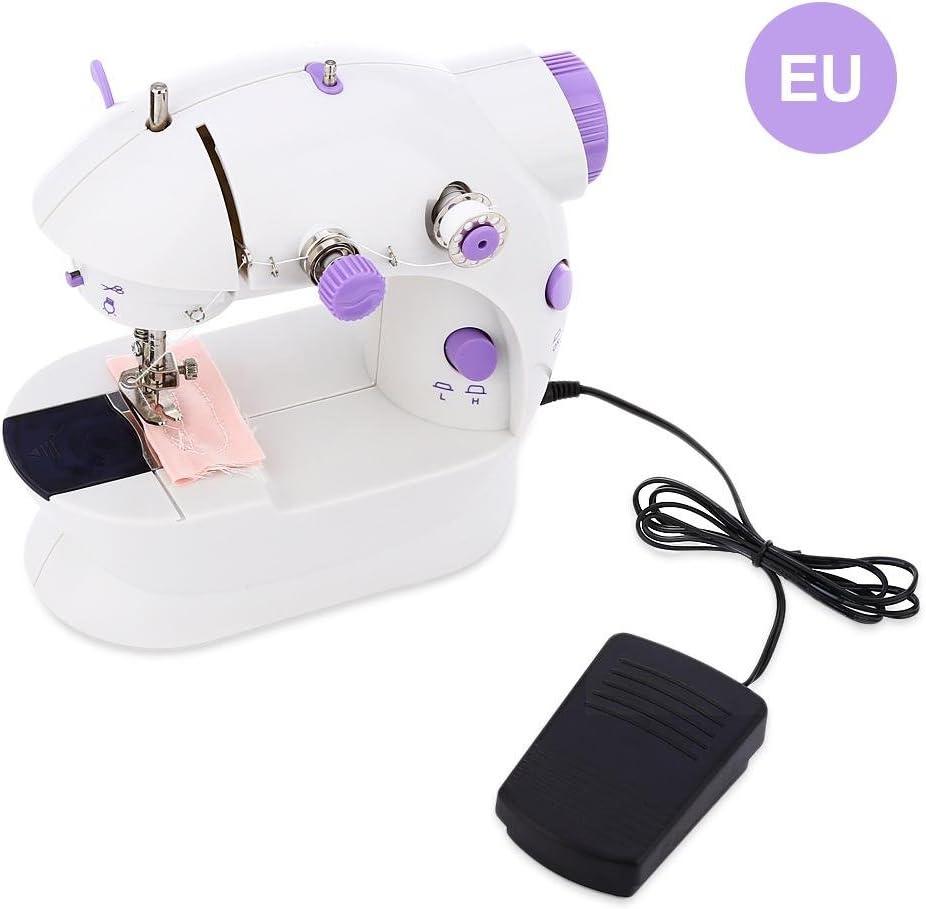 Máquina de Coser, máquina de Coser y acolchar portátil Simple 202 Mini Hilo automático Máquina de Coser Botón de Control de Velocidad Doble para Principiantes: Amazon ...