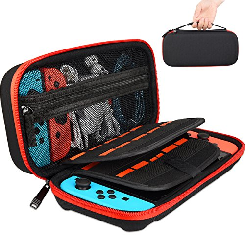 Cheap GOLDFOX Carrying Case for Nintendo Switch, Portable Travel Carry Case Holds 29 Games Protective Hard Shell Carrying Case Storage Pouch for Nintendo Switch Console & Accessories (9.85″×4.25″×2″)