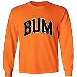 "Silo Shirts LONG SLEEVE ORANGE Madison Bumgarner San Francisco ""BUM"" T-Shirt"