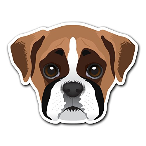 Boxer - [CUSTOMI] Dog Breed Decal Sticker for Car Truck Macbook Laptop Air Pro ()