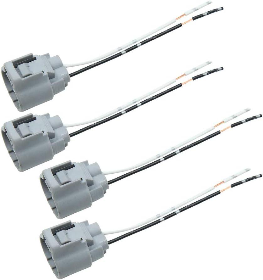 sourcing map 4Pcs Arnés de Cables Conector Enchufe de Bobina de Encendido de Coche Universal 12V CC