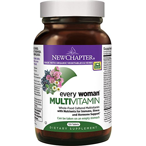 New Chapter Every Woman, Women's Multivitamin Fermented with Probiotics + Iron + Vitamin D3 + B Vitamins + Organic Non-GMO Ingredients - 120 ct