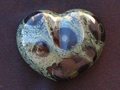 Crocodile Jasper Small Decorative Heart by Madagascar Minerals