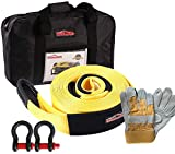 Search : Autofonder 12T Recovery Kit 4WD Heavy Duty 6M Tow Strap +2Bow Shackle +Leather Gloves