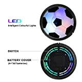 Betheaces Kids Toys Soccer Goal Set Hover Football with 2 Gates for Kid Christmas Gifts Sports Boys Girls Air Power Training Ball Indoor Outdoor Disk Game with LED Lights and Mini Screwdriver
