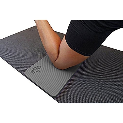 "SukhaMat Yoga Knee Pad - NEW! 15mm (5/8"") Thick - The best yoga knee pad for a pain free Fitness Exercise Workout. Cushions pressure points. Complements your full-size yoga mat. (Grey)"