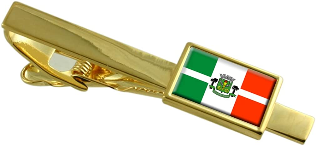 Select Gifts Osasco City Sao Paulo State Flag Gold-Tone Tie Clip