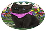 Doggie of the Day Spring Floral Black Cat Oval Envelope Seals OVE64956 (50)