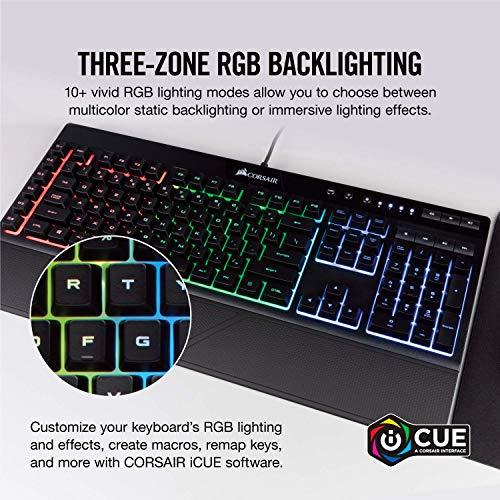 CORSAIR K55 RGB Gaming Keyboard - Quiet & Satisfying LED