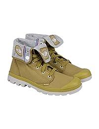 Mens Palladium Sport Baggy Lite CVS Canvas Ankle Boot Lace-Up Khaki 03401-279