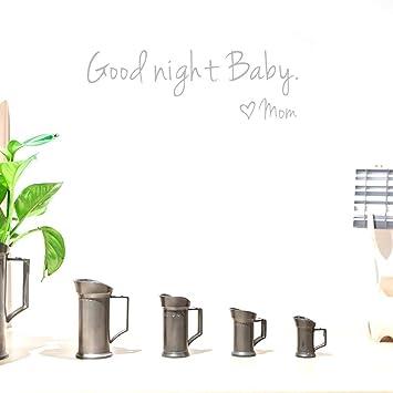 Amazon.com: BIBITIME Heart Mom Saying Good Night Baby Wall ...
