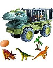 Kinderen grote dinosaurus auto, Carrier Toy Car met dinosaurussen, Truck Graafmachine Transport Auto Speelgoed voor Kids Carrier Truck Voertuig Speelgoed Dinosaurus Speelgoed
