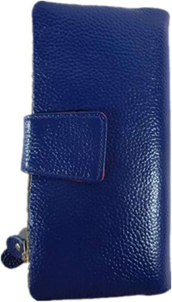 Genuine Leather Purse New Large Capacity RFID Blocking Full Grained Genuine Leather Purse with Multi-card Slots