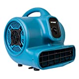 XPOWER P-400 Multi-Purpose 1/4 HP Air Mover Fan Blower and Dryer