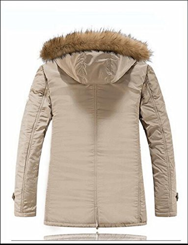Warm Faux Coats Men's Lined Hooded Jackets TTYLLMAO Fur Casual 3 Winter AYqnF