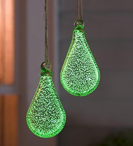 Glowing Teardrop Glass Garden Ornament