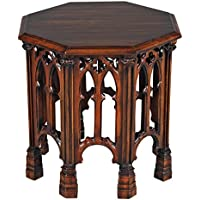 Design Toscano Gothic Revival Octagonal Side Table