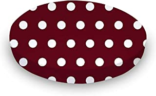 product image for SheetWorld Fitted Oval Crib Sheet (Stokke Sleepi) - Polka Dots Burgundy - Made In USA