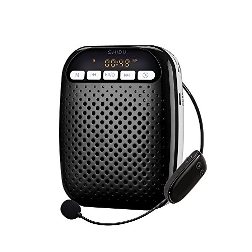 [SHIDU 156g Unique Portable Rechargeable 2.4G Wireless Voice Amplifier 10 Watts Output with Wireless Detachable Microphone for 5,382 Square Feet Coverage Area, for Teachers, Guides, Anchor,] (Costumes For Teachers)
