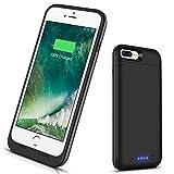 VinPone iPhone 8 Plus/iPhone 7 Plus Battery Case, Portable Charging Case (5.5 inch) Rechargeable Juice Power Bank Case for iPhone 7 Plus,8 Plus (Black)