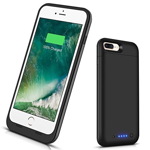 VinPone iPhone 8 Plus/iPhone 7 Plus Battery Case, Portable Charging Case (5.5 inch) Rechargeable Juice Power Bank Case for iPhone 7 Plus,8 Plus (Black) by VinPone
