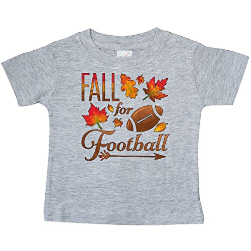 - inktastic - Fall for Football Baby T-Shirt 24 Months Heather Grey