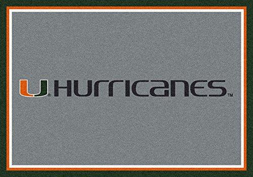 NCAA Team Spirit Door Mat - Miami Hurricanes, 56'' x 94'' by Millilken