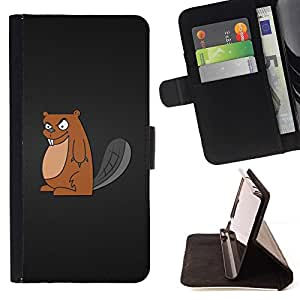 DEVIL CASE - FOR HTC One M9 - Cool Evil Badger - Style PU Leather Case Wallet Flip Stand Flap Closure Cover