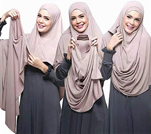 Cieelita Frauen Plain Instant-Baumwoll-Jersey-Schal Hijab Wrap Solid Color Schal Foulard Female moslemisches Hijabs Shop Damen Damen Schal Wraps