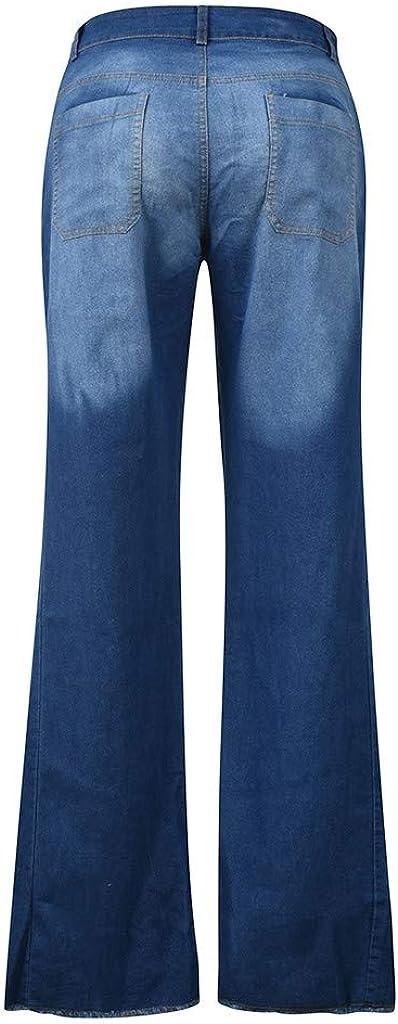 Ropa Mrtom Straight Vaqueros Mujer Campana Jeans Pantalones Acampanados Elasticos Cintura Alta Pantalones Anchos De La Pierna Pantalon Largos Denim Slim Fit Deportes Y Aire Libre Chillmeets Pl