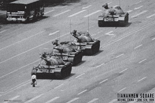 Tiananmen Square Tank Man Or Unknown Protester June 1989 Chinese Military Tanks Poster 18x12 Tank Man Tiananmen Square