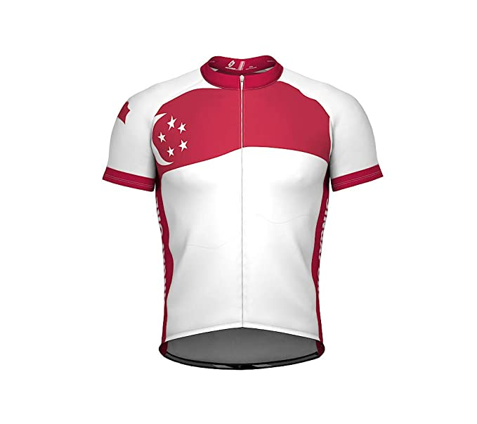 d9a283ff3 ScudoPro Singapore Emblem Full Zipper Bike Short Sleeve Cycling Jersey for  Women - Size XS