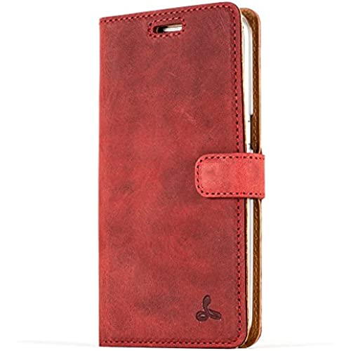 Snakehive Vintage Collection Samsung Galaxy S7 Wallet Case in Nubuck Leather with Credit Card / Note slot (Burgundy) Sales