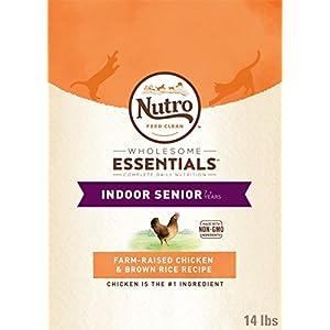 NUTRO WHOLESOME ESSENTIALS Natural Dry Cat Food, Senior Cat Chicken & Brown Rice Recipe, 14 lb. Bag 37