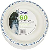 Chinet 24cm Disposable Microwave Plates, 60 Pack