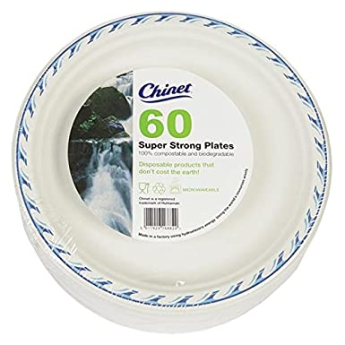 sc 1 st  Amazon UK & Chinet 24cm Disposable Microwave Plates 60 Pack: Amazon.co.uk: Grocery