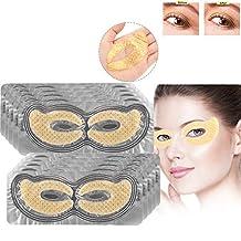 50 pares del colágeno de oro del ojo del cojín pistas del ojo, del colágeno cristalino Eliminar las ojeras hidratante Fundido líneas finas Anti-Aging Eye Mask(oro)