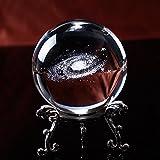 Blue Stones 6CM Diameter Globe Galaxy Miniatures Crystal Ball 3D Laser Engraved Quartz Glass Ball Sphere Home Decoration Accessories