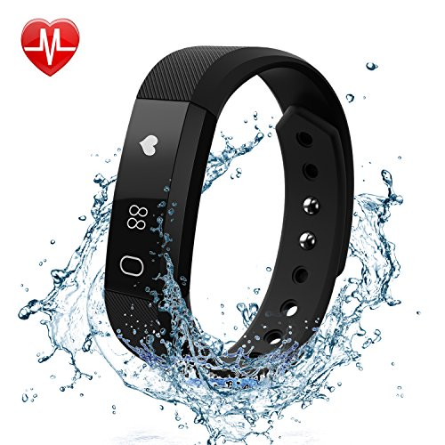 Fitness Tracker Watch with Heart Rate Monitor, FELIS Bluetooth 4.0 Activity Tracker and Pedometer Bracelet Wristbands with Call MSM Reminder and IP67 Water Resistance for iPhone Android Smartphone