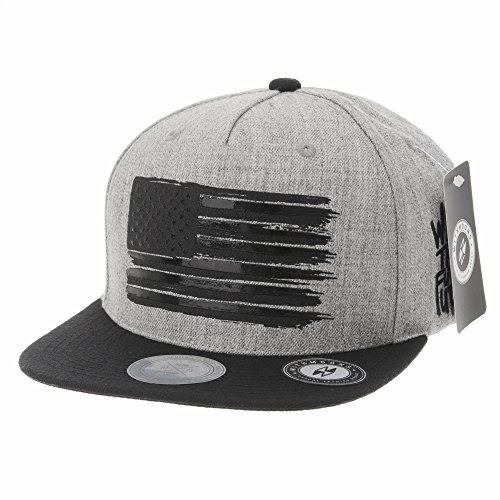 WITHMOONS Baseball Cap Star and Stripes American Flag Hat KR2305 (Grey, L)